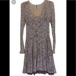 Free People   Scoop Neck Ruffle Dress, M